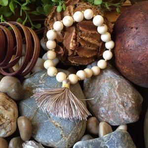 """Twilight Gypsy Collective Jewelry - """"Camila"""" Tassel Stretch Bead Bracelet"""