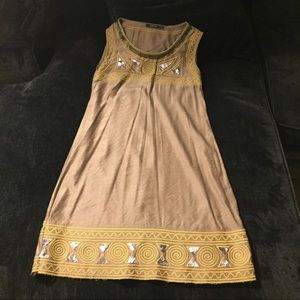 Dresses & Skirts - Gold dress with yellow and silver accent