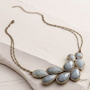 Dusty lavender stone statement necklace new