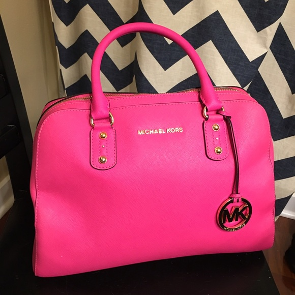 62% off Michael Kors Handbags - Michael Kors Neon Pink Handbag ...