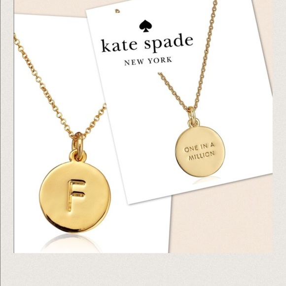 Kate spade jewelry one in a million letter pendant f necklace one in a million letter pendant f necklace aloadofball Images
