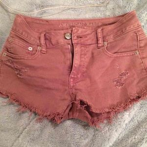 American Eagle 00 rose denim shorts