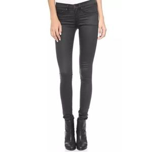 Rag & Bone Legging Jeans in Coated Black