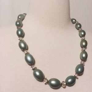 Handmade Vintage Mint Necklace