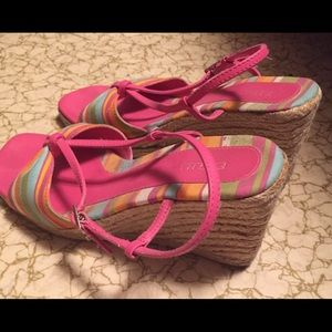 FIONI Clothing Shoes - Wedge Pink shoes