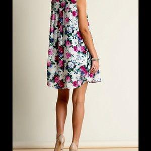 ❗️Floral Cape Slip Tunic Dress