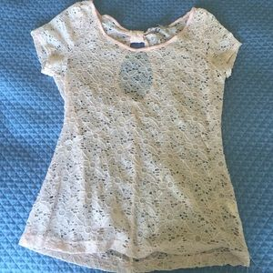 Charlotte Russe lace tee