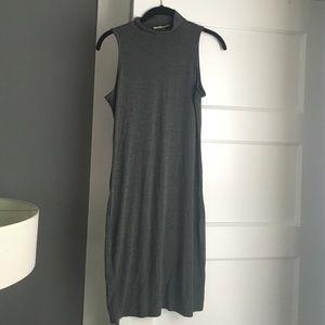 *Mock neck jersey dress