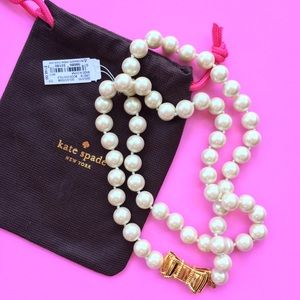 Kate Spade New York Pearl & Bow Necklace