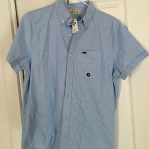 Other - Hollister Blue Medium Mens Shirt New with Tags
