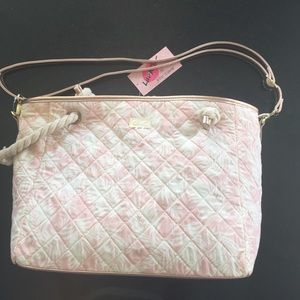 Betsey Johnson quilted palm tote