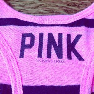 FLASH SALE PINK Sequined Striped Tank sz XS