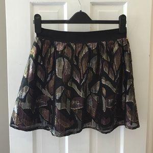 Free People Metallic Mini Skirt