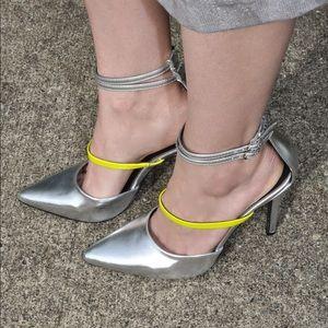 Shoe Dazzle Shoes - Silver heels