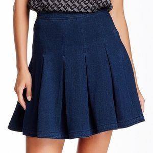 Diane von Furstenberg Dresses & Skirts - DVF Gemma Pleated Stretch Denim Skirt
