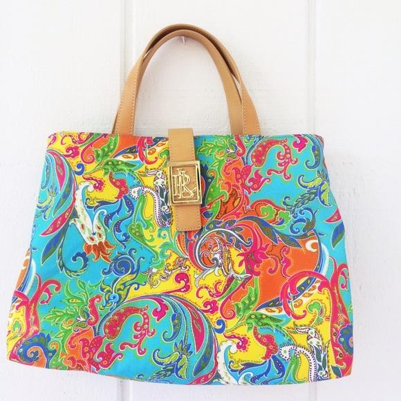 02bd67d884 Lauren Ralph Lauren Handbags - NWOT Lauren Ralph Lauren paisley floral bag
