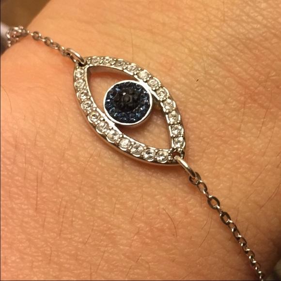 e23401b0762 Swarovski Jewelry | Crystal Evil Eye Bracelet | Poshmark