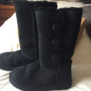 Uggs With Buttons On Side UGG Shoes | Bla...