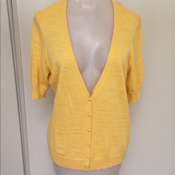 69% off Caslon Sweaters - Yellow short sleeve cardigan from ...