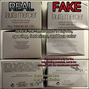 BEWARE OF FAKE LAURA MERCIER TRANSLUCENT POWDER