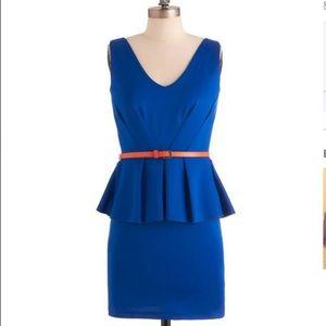 "ModCloth Dresses & Skirts - ""Royal Ways"" Peplum Party dress by Modcloth"
