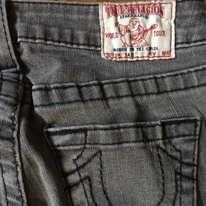 """Grey """"Kate"""" Denim Jeans by True Religion size 26"""