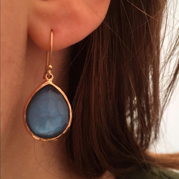 f40477430 IPPOLITA Jewelry   18k Rose Gold Topaz Teardrop Earrings   Poshmark