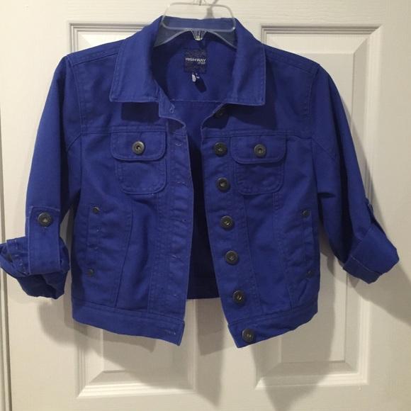 72b3f3ed817b5 Highway Jeans Jackets   Blazers - Cropped royal blue denim jacket