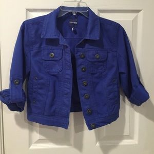 Highway Jeans Jackets & Blazers - Cropped royal blue denim jacket