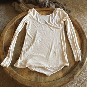 Zara long sleeved ivory top