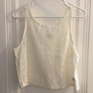 NWOT Forever 21 Lace Crop Tank