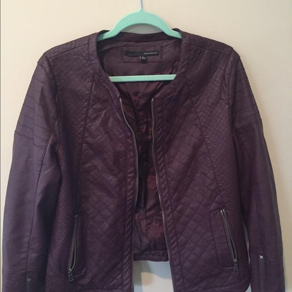 898e95c5540 Harve Benard Jackets   Blazers - Dark wine colored faux leather jacket size  L
