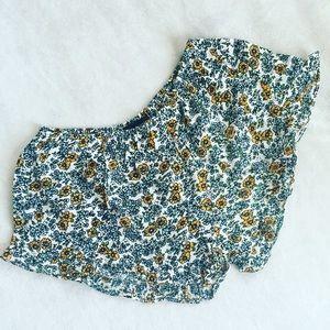 Floral rayon shorts