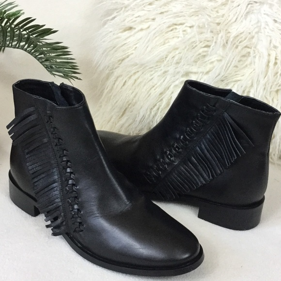 40% off Topshop Shoes - TopShop BRAND NEW black leather ankle ...