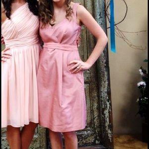 Silk Ann Taylor Pink Bridesmaids Dress