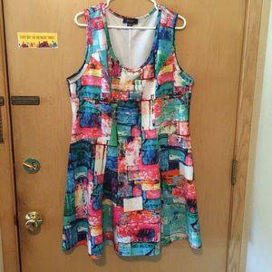 Karen Kane Dresses & Skirts - Gorgeous colorful designer dress