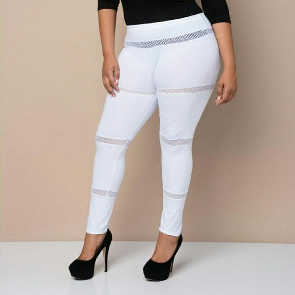 50754a3fc3620 Pants   Flash Sale 3x Plus Size White Leggings   Poshmark