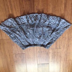 XS Hollister Flowy Grey Skirt