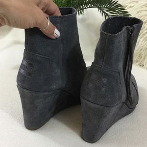 9e729d2aef05 TOMS Shoes - TOMS BRAND NEW grey suede wedge ankle boot