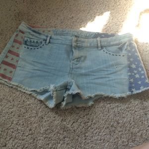 Vanilla Star Pants - 🇺🇸NWOT American Flag shorts🇺🇸