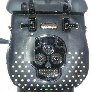 Handbags - **Host Pick**Black Candy Skull Embroidery Handbag