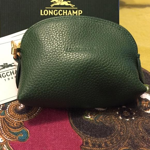 Longchamp leather Le Foulonne coin purse c5d424e957e12