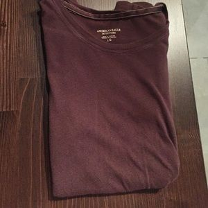 American Eagle Brown Long-Sleeve Tee Shirt