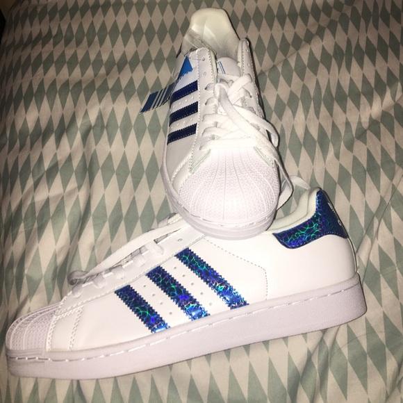 Blue Hologram Shell-Toe Adidas ba62b26a0