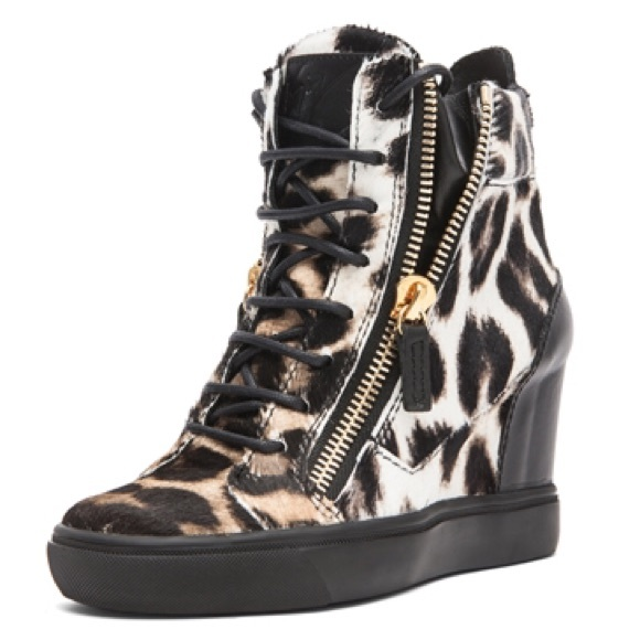 a85a7dd0637 Giuseppe Zanotti Shoes   Animal Print Wedges   Poshmark