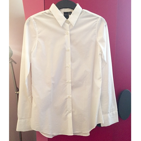 75 off barneys new york co op tops price drop barney 39 s for Crisp white cotton shirt