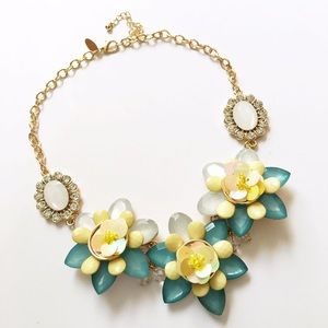 New York & Company Jewelry - NWT NY&Co Yellow & Teal Floral Necklace