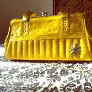 Lux De Ville gold glitter purse