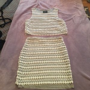 Do + Be two piece crop top and skirt. Size small.