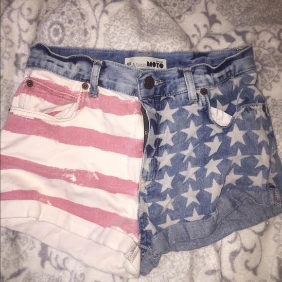 c08f0b6769 Topshop Shorts | American Flag | Poshmark